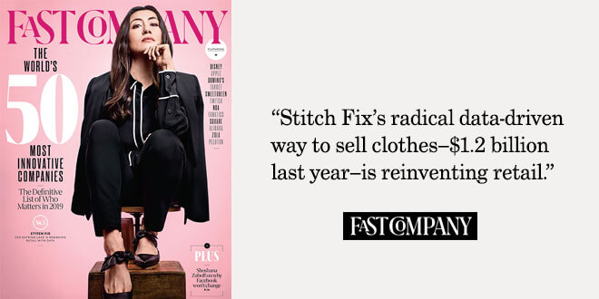 "c2122a7d5e Stitch Fix #5 on Fast Company's ""Most Innovative Companies"" list for 2019"